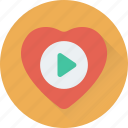 media, multimedia, music player, romantic music, video player icon