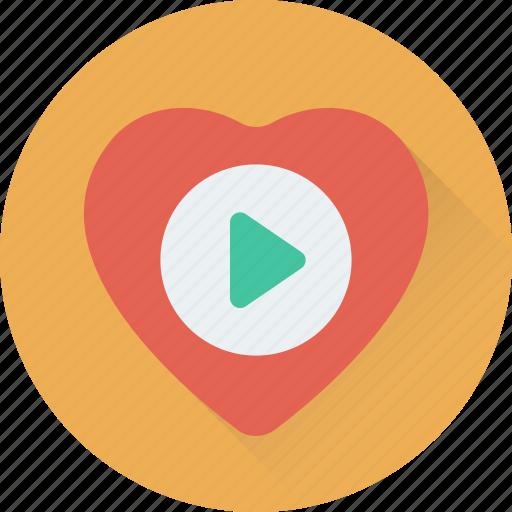 media, multimedia, music player, romantic music, video player icon
