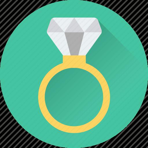 diamond ring, gem ring, jewel ring, ring, wedding ring icon
