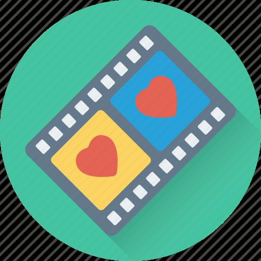 movie, multimedia, romantic movie, video, video player icon