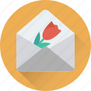 greetings, heart, love, love letter, valentine icon