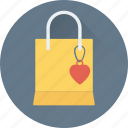hand bag, heart, shopping bag, valentine gift, valentine shopping icon