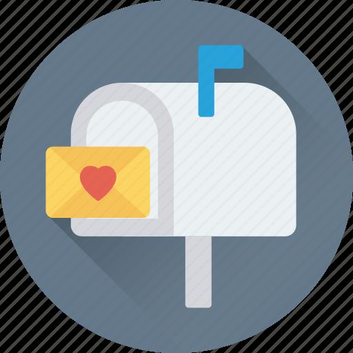 letterbox, love, love letter, postbox, romantic feelings icon