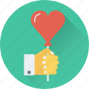 balloon, in love, proposal, romantic, valentine icon