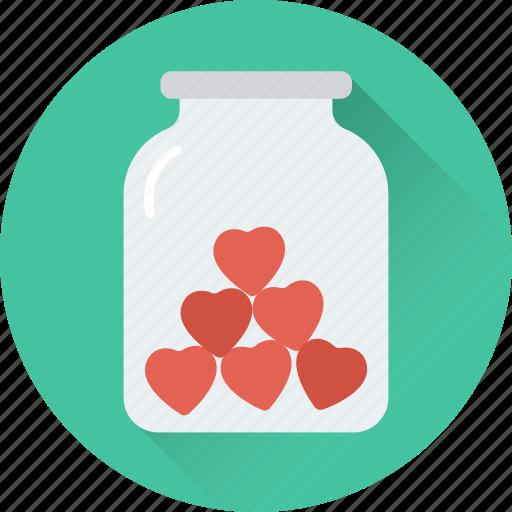 dating, heart, jar, love, romance icon