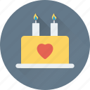 cake, dessert, food, valentine cake, wedding cake icon