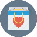 hand bag, heart, shopping bag, valentine gift, valentine shopping