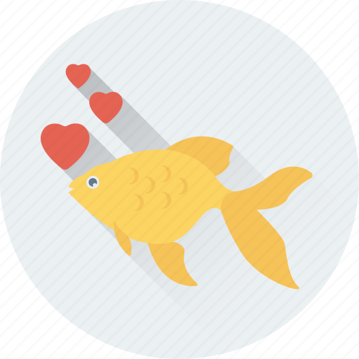 Aquarium, fish, heart, love, romance icon - Download on Iconfinder
