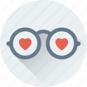 glasses, heart glasses, shades, spectacles, sunglasses icon