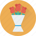 bouquet, event, floral, flower bouquet, flowers icon