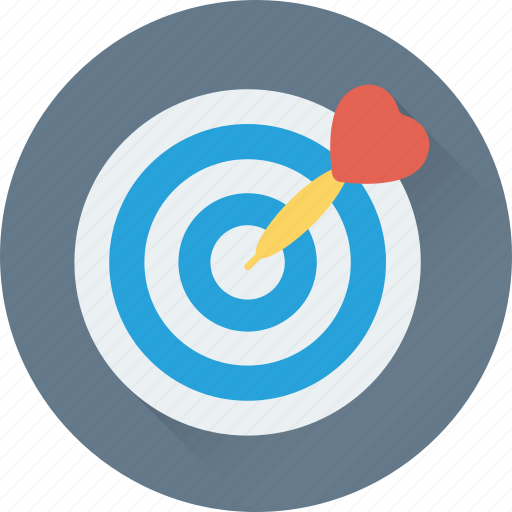 bullseye, dart, heart, love, target icon