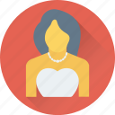 bridal, bride, girl, lady, marriage icon