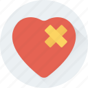 bandage, broken heart, brokenheartedness, feeling hurt, heart icon