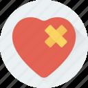 bandage, broken heart, brokenheartedness, feeling hurt, heart