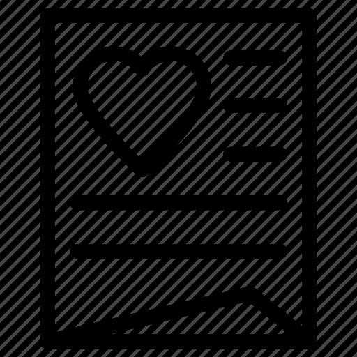 love letter, romance, valentines icon