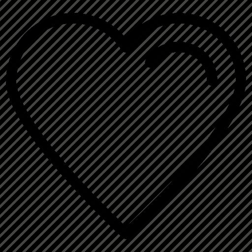 heart, love, romance, romantic, shape, symbol, valentines icon