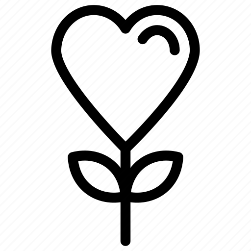 love, love concept, passion, romantic icon, • heart flowers icon
