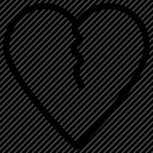 broken heart, divorce, flirting, heartbreak icon, • breakup icon