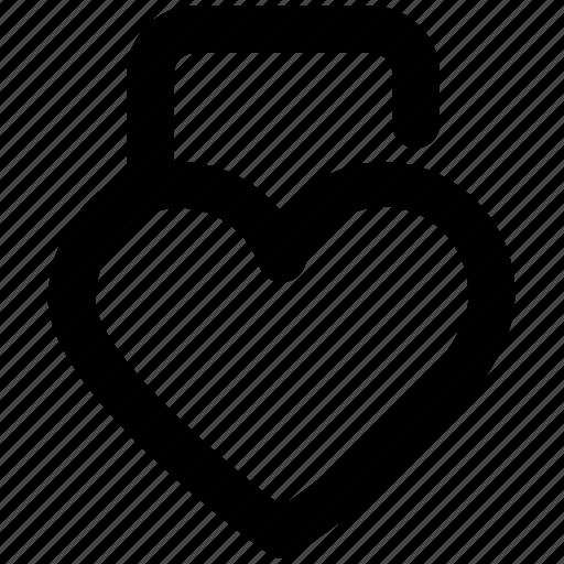 heart shaped, love secret, padlock, privacy, relationship protection, romantic, secret feelings icon