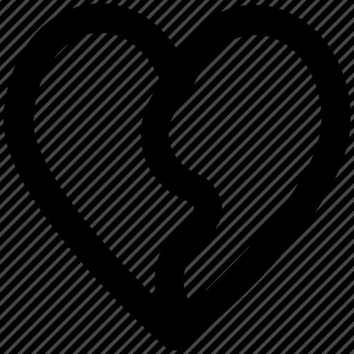 breakup, broken heart, divorce, flirting, heartbreak, hurt, separation icon