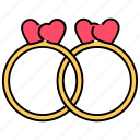couple, love rings, marriage rings, relationship, romantic gift, valentine gift, wedding rings icon