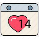 love, love calendar, lovely hearts, romance, romantic dates, valentine date, wedding date icon