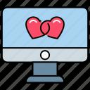 digital love, love, love application, modern romance, online love, romance, romantic chatting icon