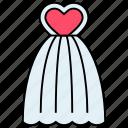 bridal, bridal frock, bridal gown, bride dress, clothing worn, wedding dress icon