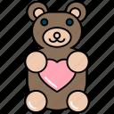 baby gift, baby toys, child present, teddy bear, teddy toy, valentine gift icon