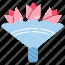 blossoms, bouquet, bridal flowers, flower bouquet, flowers, wedding flowers icon