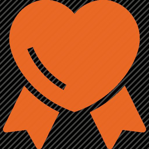 heart, heartbadge, insignia, lovebadge, ribbonbadge icon