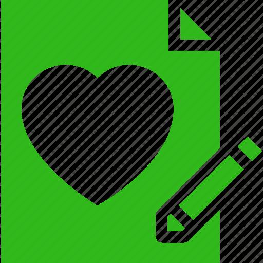 Heart, letter, love, valentine, wedding, write icon - Download on Iconfinder