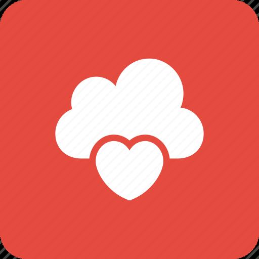 cloud, heart, icloud, onlinedating, onlinelove icon