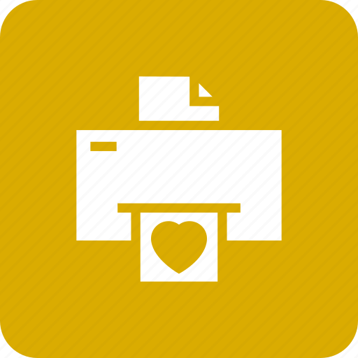 device, electronic, fax, hear, loveletter, print, printer icon