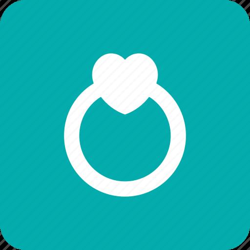 engagement, heart, love, loving, ring, wedding icon