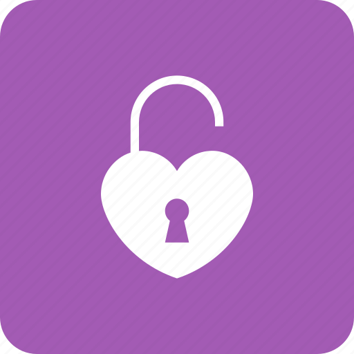 Heart, key, lock, love, loving, security icon - Download on Iconfinder