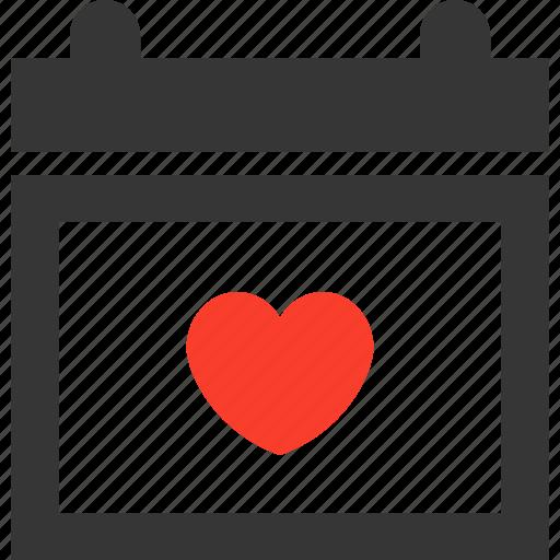 calendar, date, love, schedule, valentine, valentinesday, weddingday icon