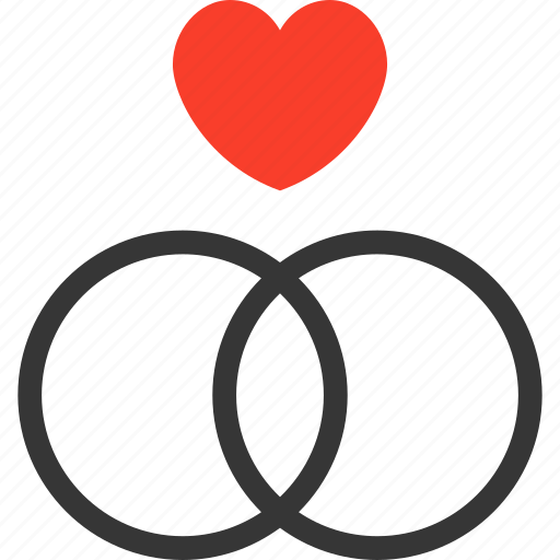 engagement, heart, love, ring, together, wedding icon