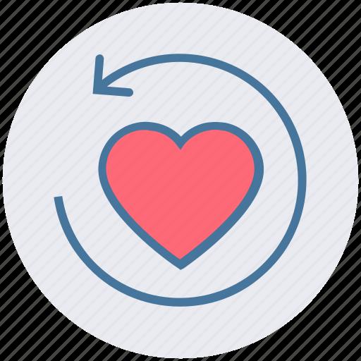 arrow, heart, like, love, refresh, reload, sync icon