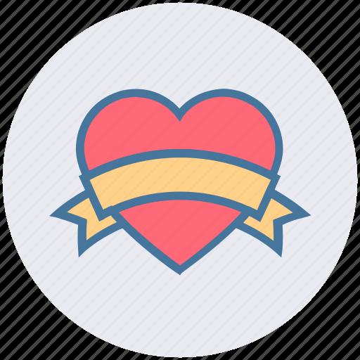 Heart Heart Badge Love Love Badge Ribbon Romantic Valentine S