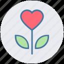 clover, clover flower, flower, heart, love, love inspirations, valentine icon
