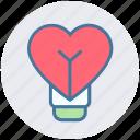 celebration, fly, flying balloon, heart, love, love balloon icon
