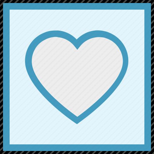 favorite, frame, heart, love, romantic, valentine, valentines icon