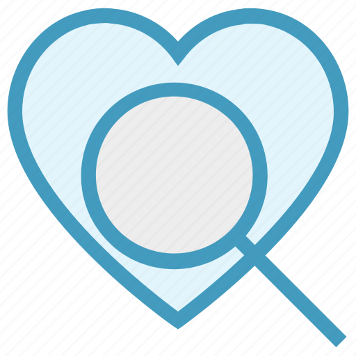 Find, heart, love, magnifier, search, searching love, valentines icon - Download on Iconfinder