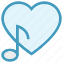 heart, love, music note, musical, note, romantic music, romantic song