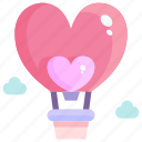 balloon, heart, love, valentine icon