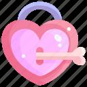 heart, key, locker, love, padlock, valentine