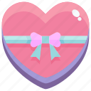 gift, heart, love, valentine icon