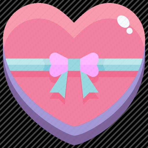 gift, heart, love, valentine icon