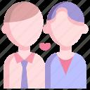 boy, couple, heart, love, man, together, valentine icon